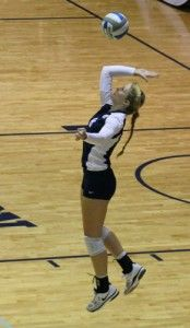 Photo by: Mark Barnes IIFreshman libero Alexandra Beecher (8) received her fourth Southern Conference award of the season today.