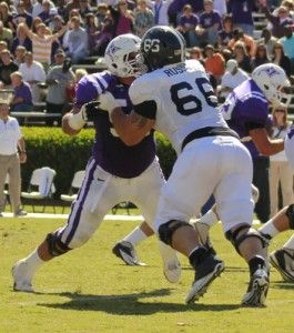 Photo+by%3A+Mark+Barnes+IISenior+defensive+tackle+Brent+Russell+%2866%29+takes+down+a+Paladin+linemen+at+last+weekend%27s+game.