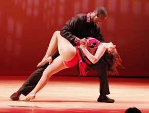 Photo by: Lindsay HartmannCoach Charlton Young and partner Melanie Lewis won Judges Choice Award for Best Overall Performance during the Dancing With The Stars Statesboro event held at the PAC on Oct. 4.