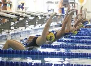 Photo by: Lindsay HartmannThe GSU swimming and diving team has four Eagles featured in a national level meet.