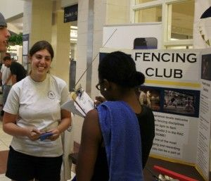 File+PhotoThe+GSU+Fencing+club+informs+students+of+all+of+their+activities+during+the+biannual+Club+Sports+Fair.+The+Club+Sports+Fair+takes+place+Tuesday+at+the+RAC+concourse.