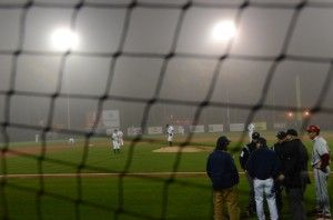 Photo+By%3A+Lindsay+HartmannFog+caused+the+umpires+to+postpone+Friday%27s+baseball+game+against+IU.
