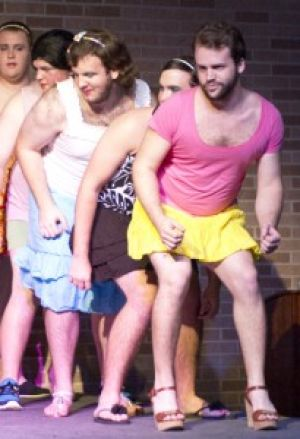 Boys in dresses support Relay for Life