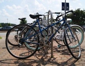 Bike racks are provided for students who choose cycling as their mode of transportation to and from classes.Photo by: Heather Yeomans