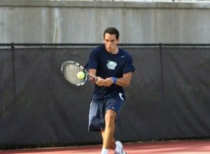 Senior+Marco+Osorio+makes+a+forehand+return.+Osorio+defeated+Thomas+Cook+of+Georgia+State+University+in+the+singles+consolation+draw.Photo+courtesy+of%3A+www.gseagles.com