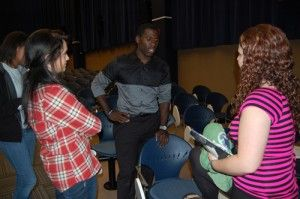 Director of the film Christian Washington answers questions for the movie's debut.Photo by: Christal Riley
