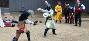 Creative anachronists reenact history