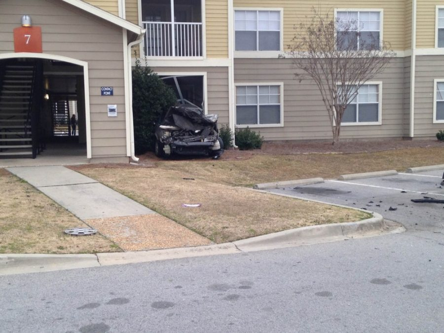 Car Wreck by Freedom's Landing