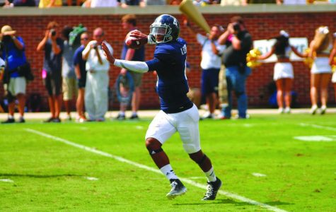 Redshirt sophomore quarterback Kevin Ellison ran for 107 yards and a touchdown, while accumulating 164 yards and a score through the air against Georgia Tech on Saturday.
