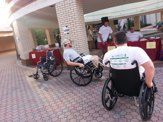 Wheelchair scavenger hunt