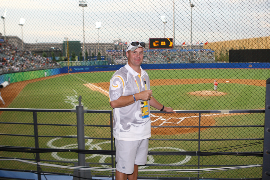 Dr. Darin Van Tassell served as the competition director for baseball during the 2008 Summer Olympic Games.