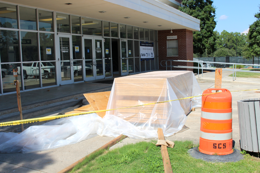 Construction at Hanner Fieldhouse will be completed sometime between Oct. 10 and 15, according to Senior Associate Athletic Director for Internal Operations Jeffery Blythe.