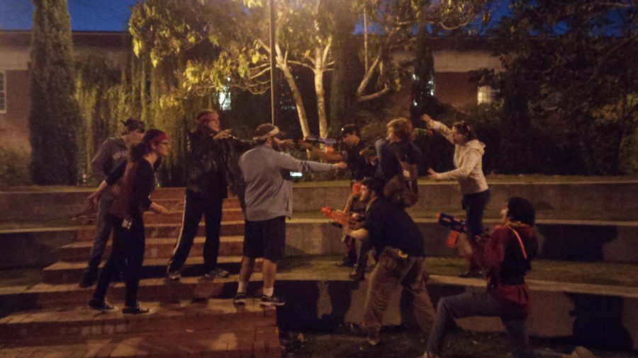 Humans vs. Zombies on Armstrong's main campus