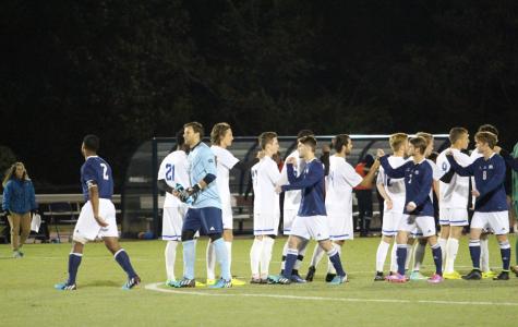 Men's soccer comes up short in title game
