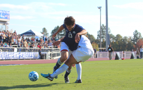 Men's soccer comes up short in title game