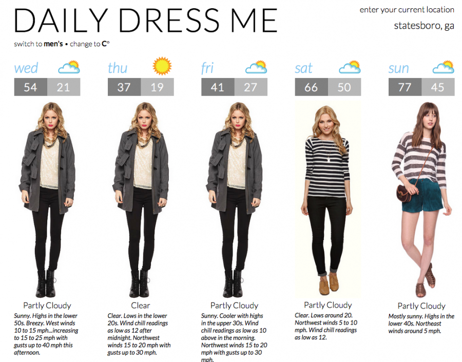 Website helps students dress for the weather