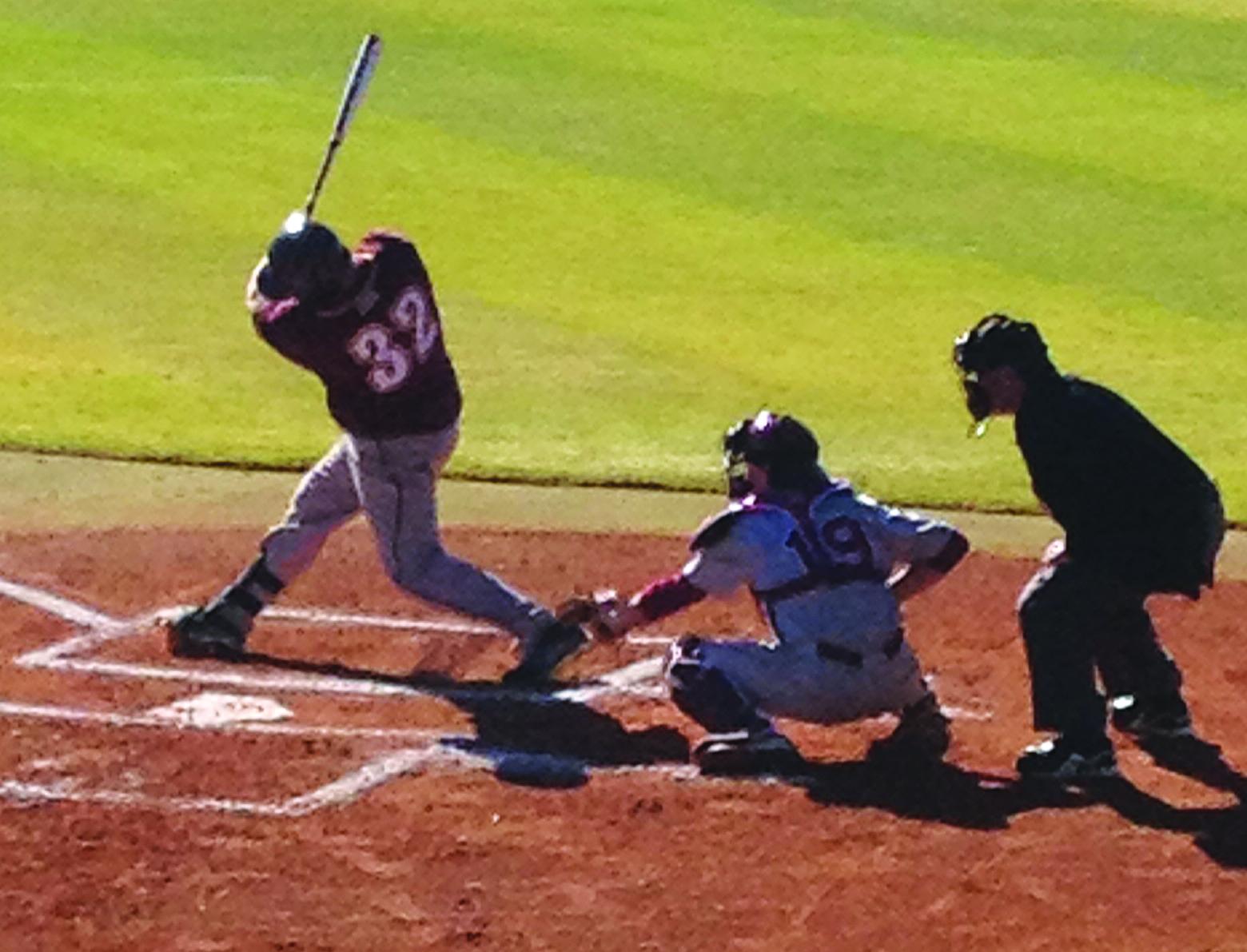 #32 RJ Dennard at bat