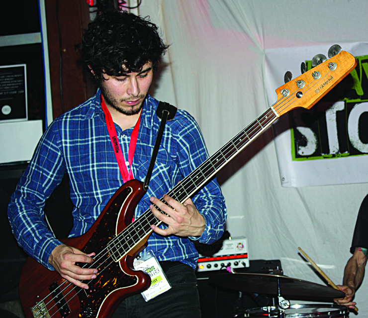 Corners' Billy Changer on bass