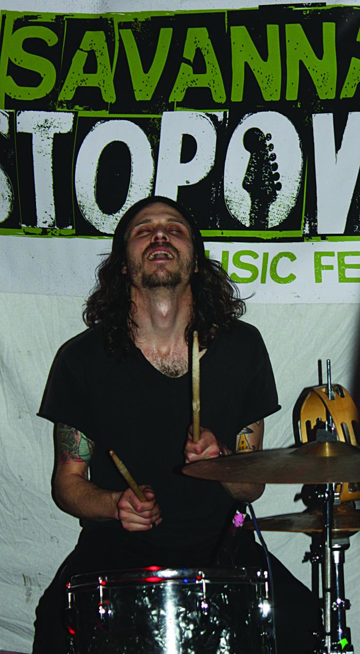 Corners' Rick Mabery on drums