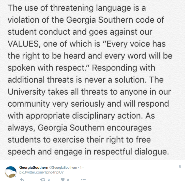 Georgia Southern NAACP releases demands