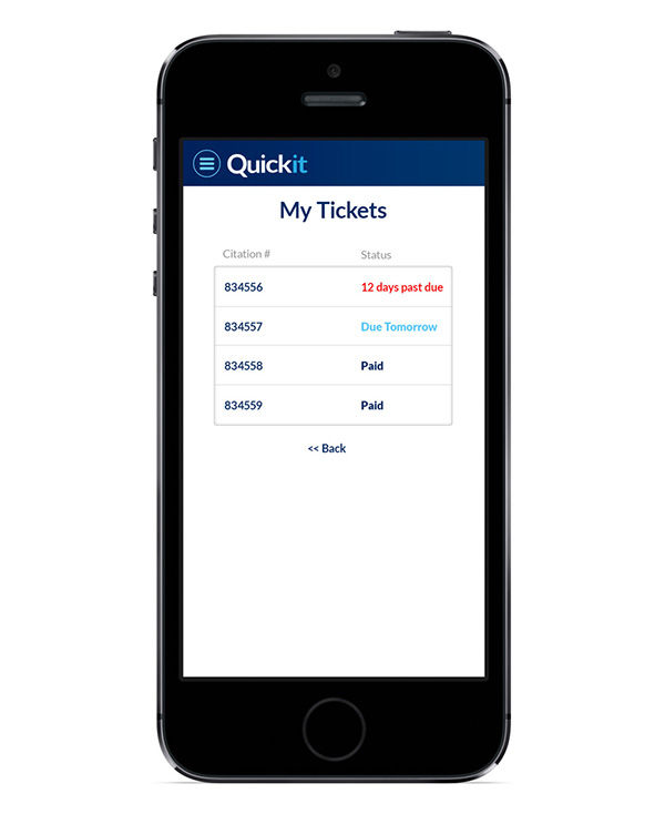 Quick new way to pay tickets