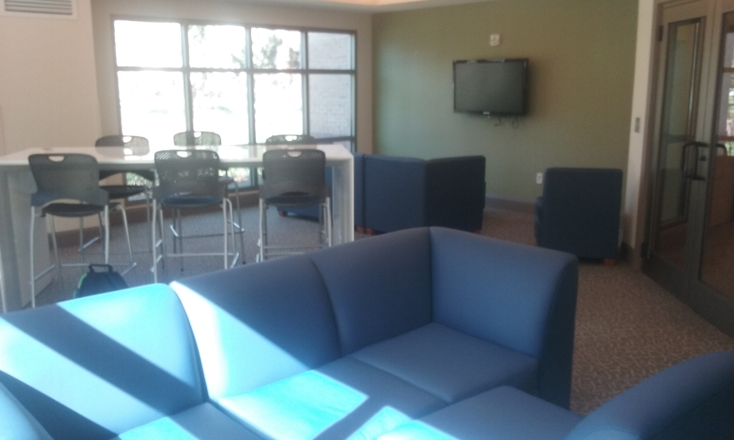 A newly renovated Windward Commons multipurpose room