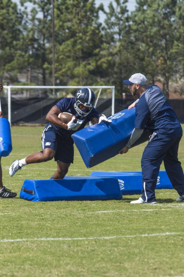 Georgia Southern opens 2016 spring practice with energy and loud music