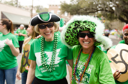 President Bleicken (right) poses for a picture at the parade