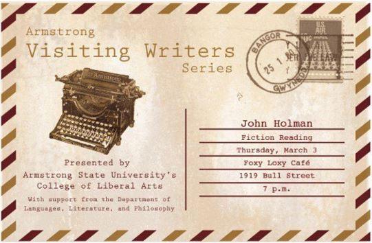 Novelist John Holman to Visit Foxy Loxy Café