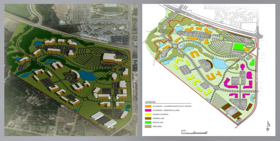 South Campus Conceptual Master Plan shows projection for future expansion