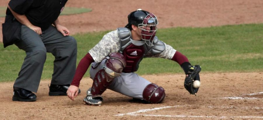 Catcher+Berry+Aldridge+went+a+career-best+5-5+from+the+plate+in+Saturday%E2%80%99s+loss+to+the+Flagler+Saints.+The+team%0Astill+lost%2C+falling+for+the+third+time+13-9.+-+Saturday%2C+April+9+%28Armstrong+Communications%29