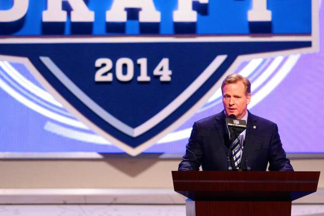 """NFL Commissioner opens the 2014 NFL Draft from New York. The draft will take place live from Chicago for the second straight year on April 28. - Thursday, May 8, 2014 (USA TODAY Sports)"""