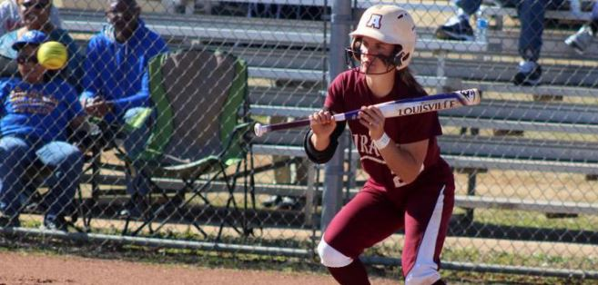 Junior Michelle Breen had a great weekend for the Pirates as they won three out of four on the weekend. The team is now ranked in the top 25 of teams across the country. - Saturday, April 2, 2016 (Armstrong Communications)