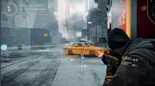 """A gameplay screenshot for """"The Division"""" showing the game's cover system (via Ubisoft)"""