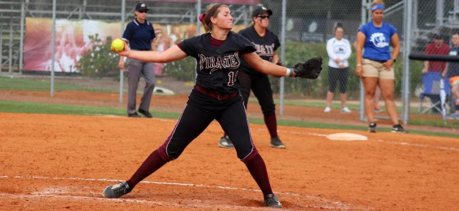 Pitcher Jane Trzaska threw a six-inning shutout against the Francis Marion Patriots. It helped win PBC Pitcher of the Week honors. - Sunday, April 10 (Armstrong Communications)