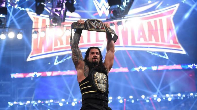 Roman Reigns finally overcame The Authority when he pinned Triple H to become a three-time WWE World Heavyweight Champion at Wrestlemania 32 in AT&T Stadium. - Sunday, April 3 (via WWE.com