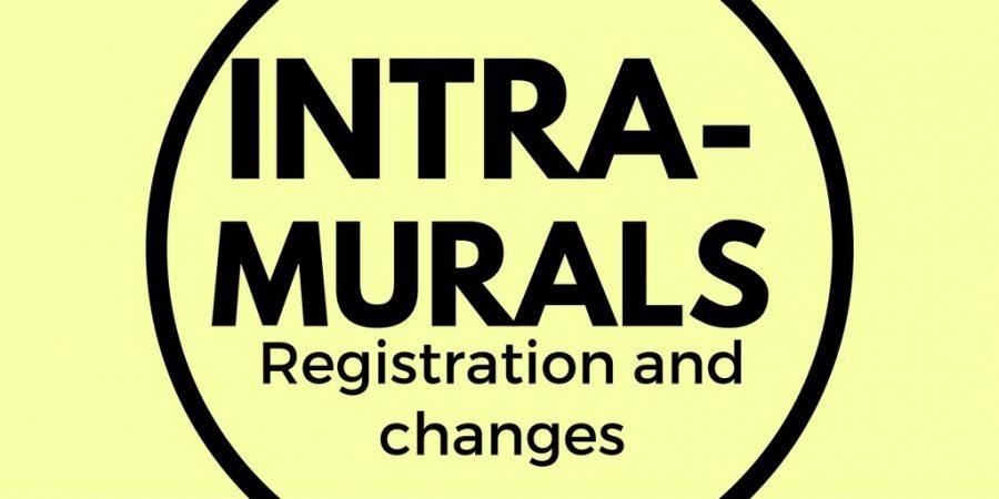 Intramural registration deadlines; changes in intramural softball