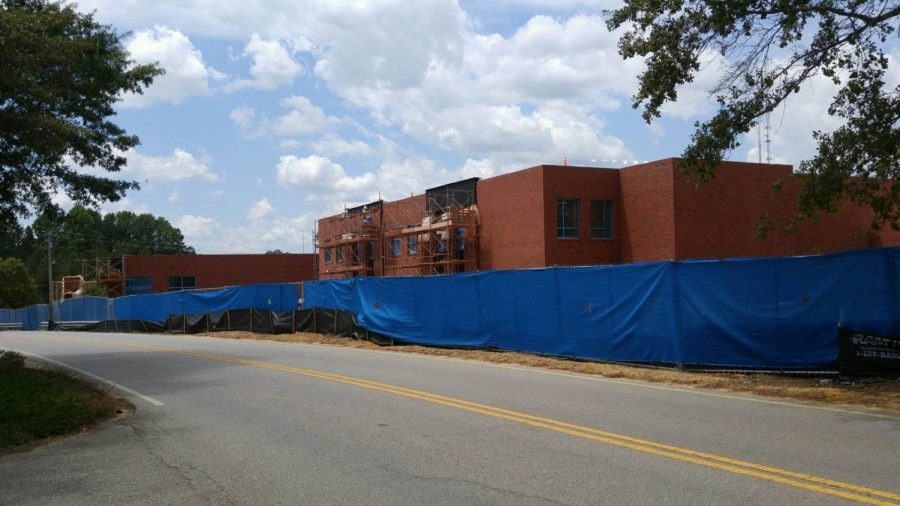 Military Science Building months from completion