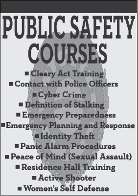 Public Safety offers new crime prevention courses