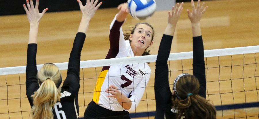 Pirate Volleyball wins three, drops one at Flagler Classic