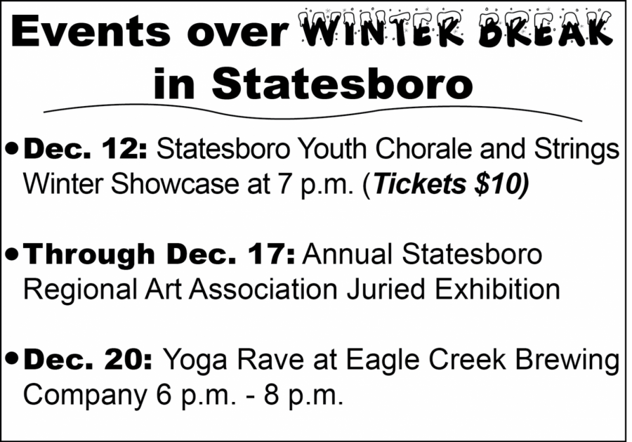 Some students can't go home this winter break and might find themselves without something to do. The Statesboro community offers many opportunities for people to get out and enjoy the break.