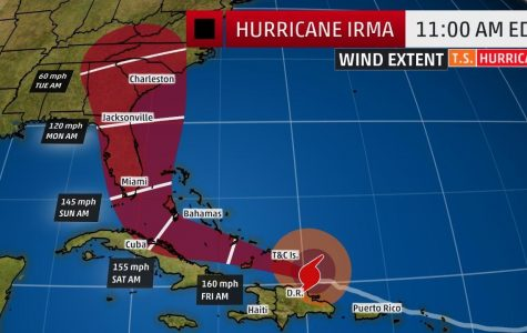 Hurricane Irma's projected path. Image from The Weather Channel.