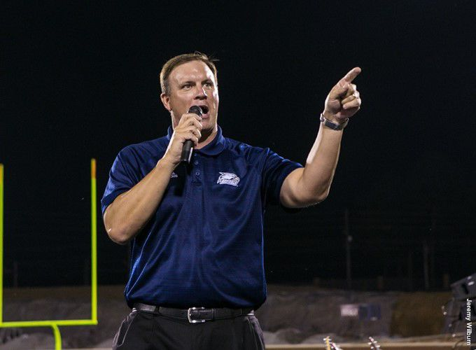 AD Tom Kleinlein speaks to fans at the Day One event last season.