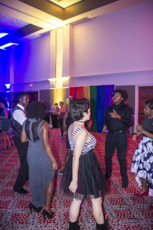 Students enjoy Pride Prom 2016 in the Russell Union Ballroom.