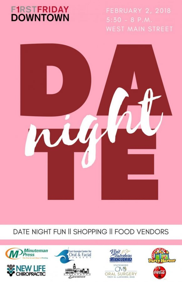 Downtown Statesboro will host its first Date Night Friday, Feb. 3Graphic courtesy of the Statesboro Downtown Development Authority