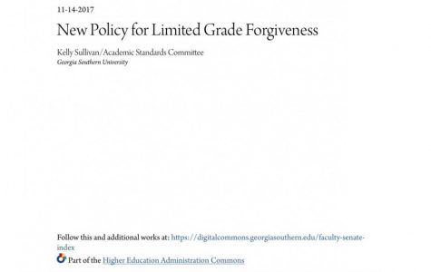 New limited grade forgiveness policy to begin Fall 2018