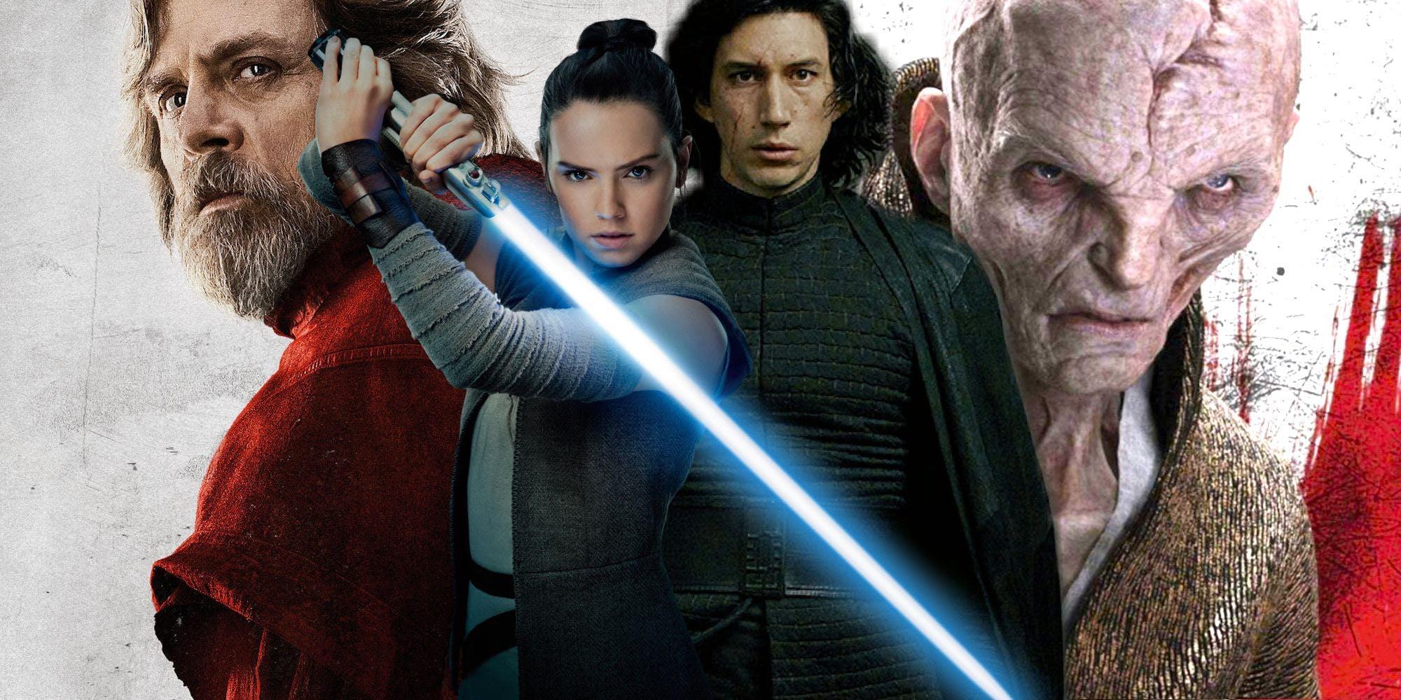 Luke Rey Ren and Snoke