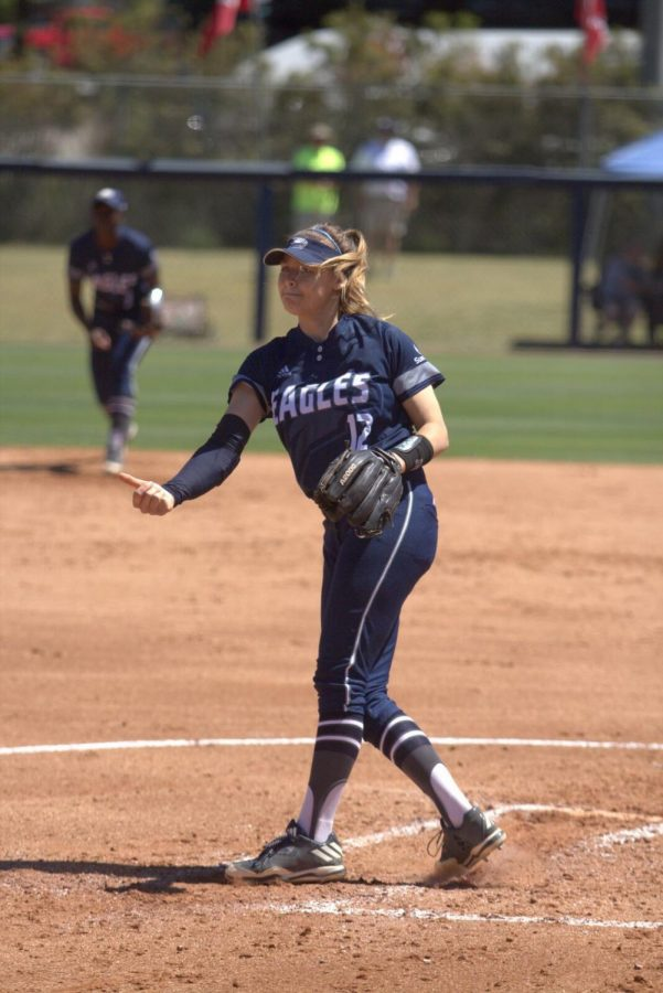 Senior RHP Heather Felt was called in for relief in the lone loss aganst ETSU Sunday.