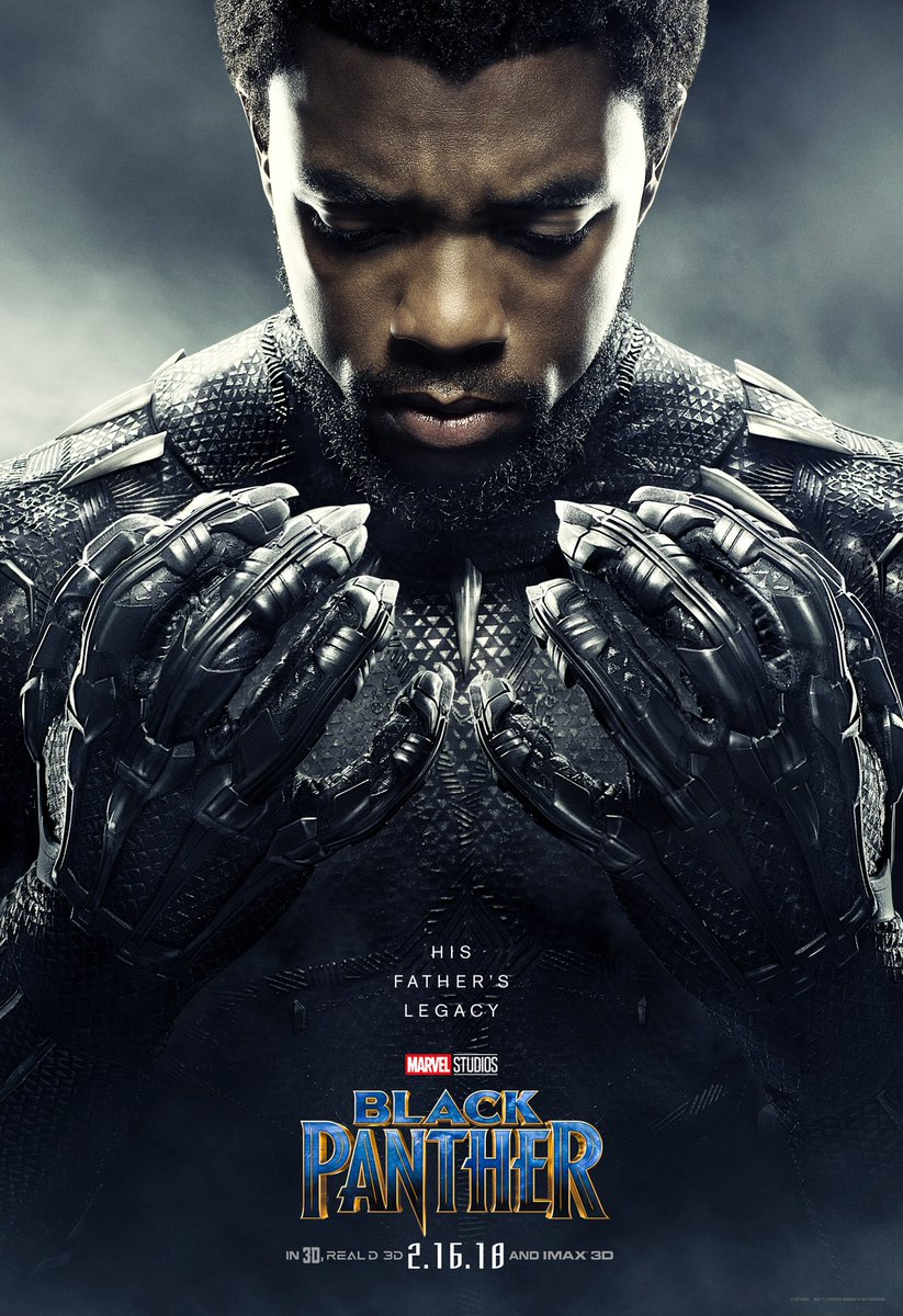 Black Panther Chadwick Boseman Poster