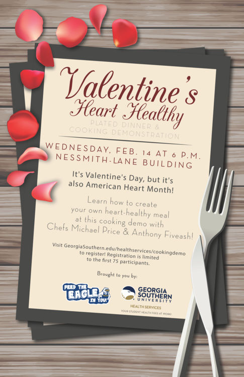 GS to host Heart-Healthy cooking demonstration on Valentine's Day